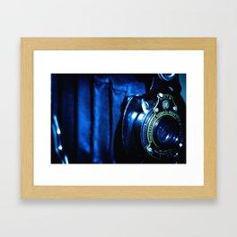 Capturing Yesteryear a vintage Kodak folding camera photograph Framed Art Print