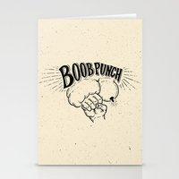 boob Stationery Cards featuring Boob Punch! by Coreysnightout