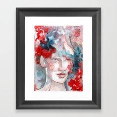 Changes, mixed media artwork Framed Art Print