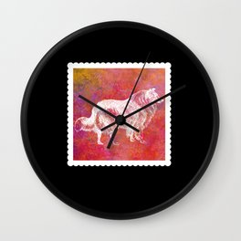 Dog Mom Commemorative Stamp Wall Clock