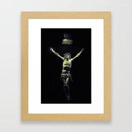 Ivory crucifix Framed Art Print