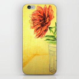 flower in a glass . illustration . art iPhone Skin