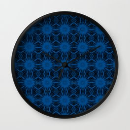 Lapis Blue Floral Abstract Wall Clock