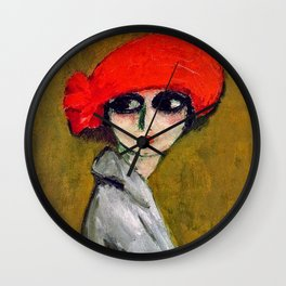 The Corn Poppy, Portrait of a Young Woman by Kees van Dongen Wall Clock