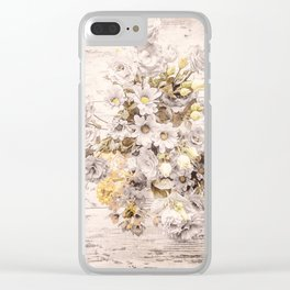 Golden brown texture like sun Clear iPhone Case