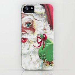 classic santa - vintage nostalgic American classic Christmas iPhone Case