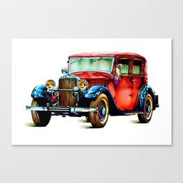 Vintage automobile retro fineart Canvas Print