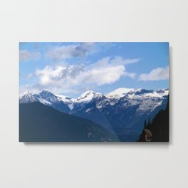 Mountains in the backyard Metal Print