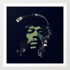 =Hendrix= Art Print