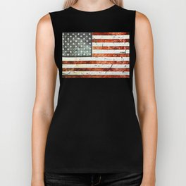 Painted Stars And Stripes Biker Tank