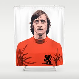Cruyff - Holland player Shower Curtain