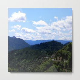 A Beautiful Day in the Mountains... Metal Print