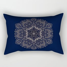 Temptation - Mandala 1 on Blue Backgound  Rectangular Pillow