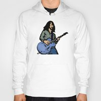 dave grohl Hoodies featuring Dave by Rachcox