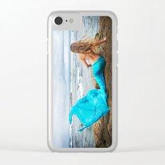 Blue Mermaid Clear iPhone Case