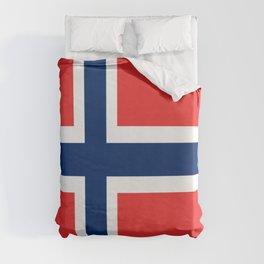 Flag of norway Duvet Cover