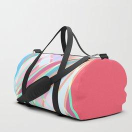 Girly Modern Abstract Geometric Pattern Duffle Bag