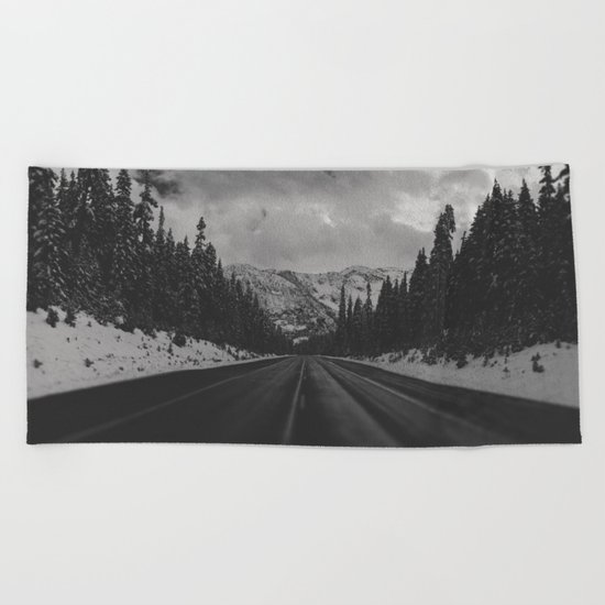 December Road Trip in the Pacific Northwest Beach Towel