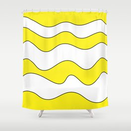 Lines Yellow Shower Curtain
