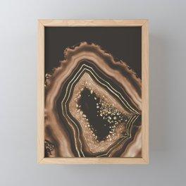 Brown Agate Gold Foil Glam #1 #gem #decor #art #society6 Framed Mini Art Print