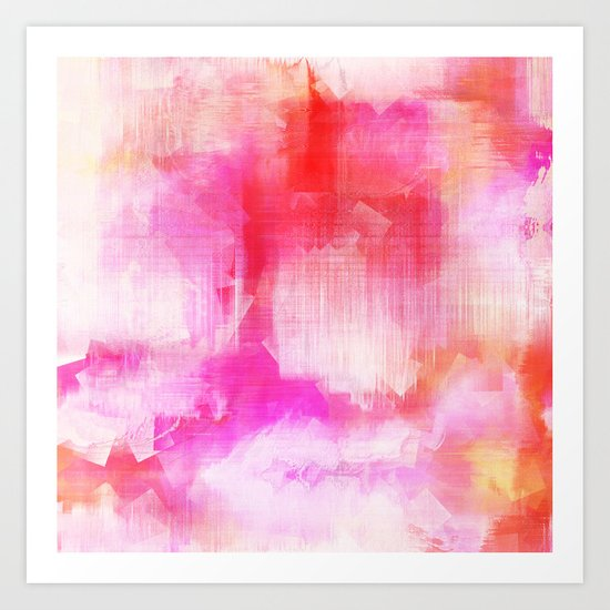 Abstract pink energetic Art Print