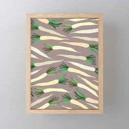 Daikon Radish Carrot Roots Framed Mini Art Print