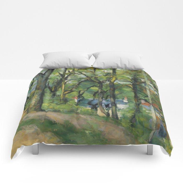 """Paul Cezanne """"The Orchard. La côte Saint-Denis à Pontoise"""" Comforters"""