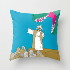 Jesus, Etc. Throw Pillow