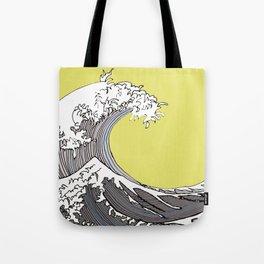 Waves, Hommage to Katsushika Hokusai Tote Bag