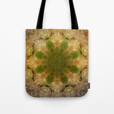 Green Flower Fossil Tote Bag