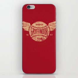 Vintage Gryffindor Quidditch Team iPhone Skin