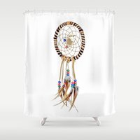 dream catcher Shower Curtains featuring Dream catcher by North America Symbols and Flags