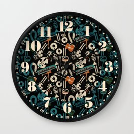 Jazz Rhythm (negative) Wall Clock