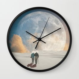 We walked together in the moonlight Wall Clock