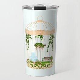 bird cage garden Travel Mug