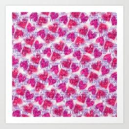 ROSES&HEARTS&LOVE Art Print