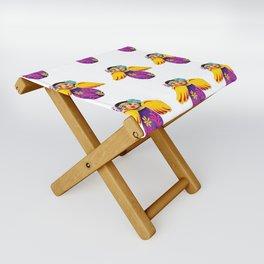 Mexican Purple Angels Folding Stool