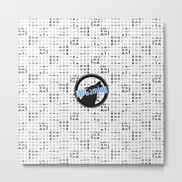 NUGaming Icon Checker Print Metal Print