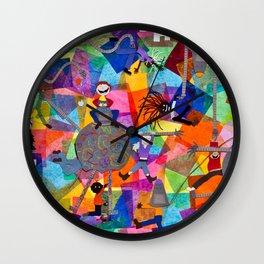 Kids and Bots Wall Clock