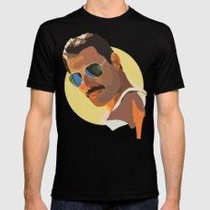 Freddie Mercury MEDIUM Black Mens Fitted Tee
