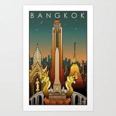 Bangkok Travel Poster Art Print