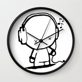 Music White Man Wall Clock