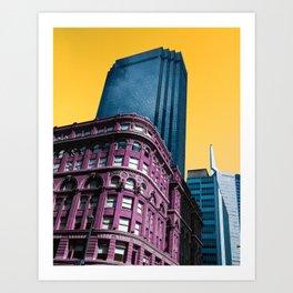 The Vibrant Downtown Dallas Art Print