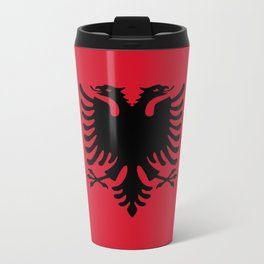 flag of Albania Travel Mug