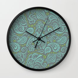 Festooned Feathered Friends Wall Clock