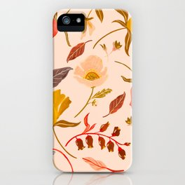 CORAL FLORAL iPhone Case
