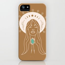 Desert Angel in Camel & Turquoise iPhone Case