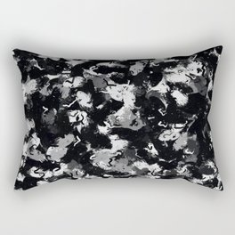 Shades of Gray and Black Oils #1979 Rectangular Pillow