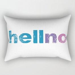 Typography Digital Design Hell No Hello Rectangular Pillow