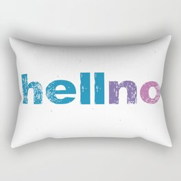 Typography Digital Design Hell No Hello Rectangular Pillow